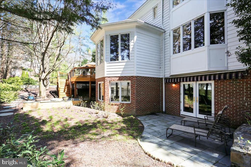 Rear Patio and Yard - 6308 MOUNTAIN BRANCH CT, BETHESDA