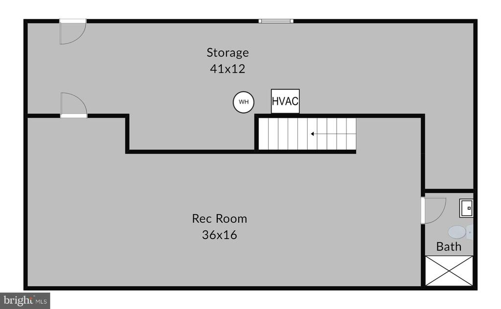 Lower Level Basement Floor Plan - 7308 S VIEW CT, FAIRFAX STATION