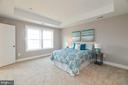 Exquisite master suite with tray ceilings. - 7142 MASTERS RD, NEW MARKET
