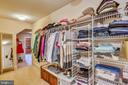 Owners' Suite Closet (one of three walk-ins) - 606 OAK KNOLL TER, ROCKVILLE