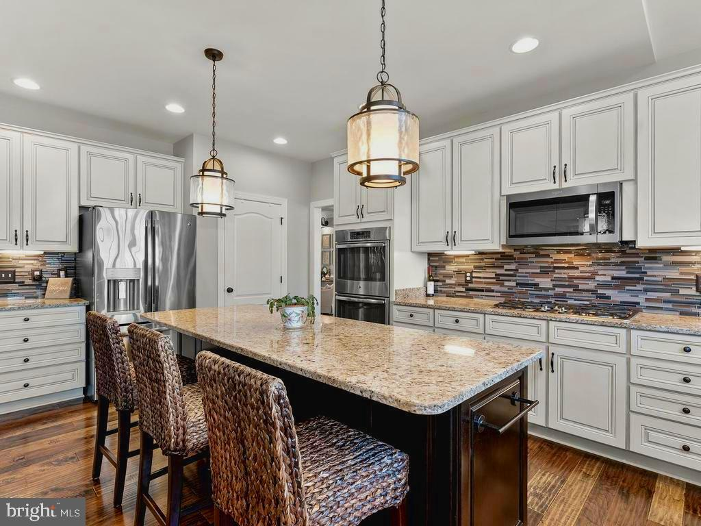 Beautiful granite, glass tile backsplash& cabinets - 41488 DEER POINT CT, ALDIE