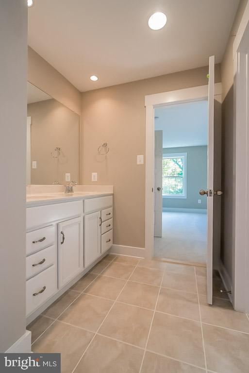 Jack and Jill bath with double vanities. - 344 SADDLE RD, NEW MARKET