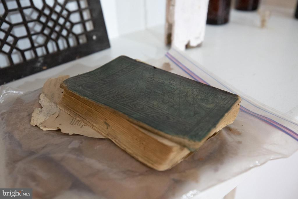 Antique educational books found in attic - 1112 CHARLES ST, FREDERICKSBURG