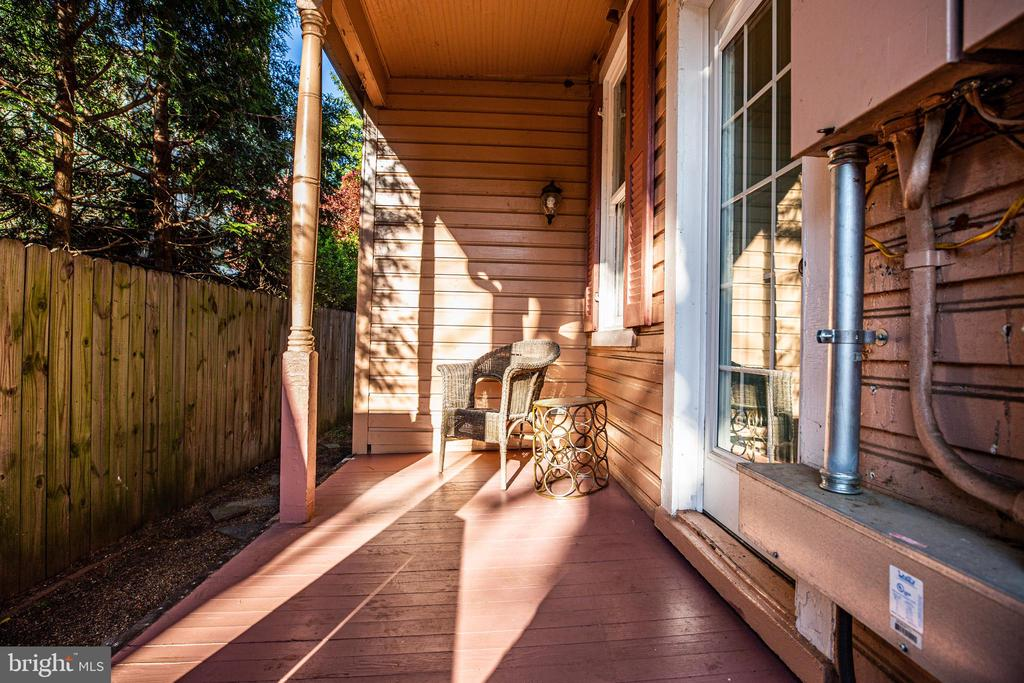 Walk out back to your side covered porch - 1112 CHARLES ST, FREDERICKSBURG
