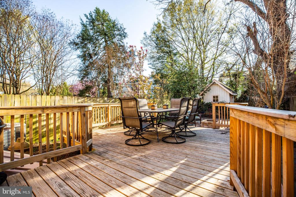 To an inviting back deck - 1112 CHARLES ST, FREDERICKSBURG