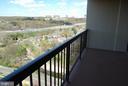 Balcony with beautiful views - 5500 HOLMES RUN PKWY #1517, ALEXANDRIA