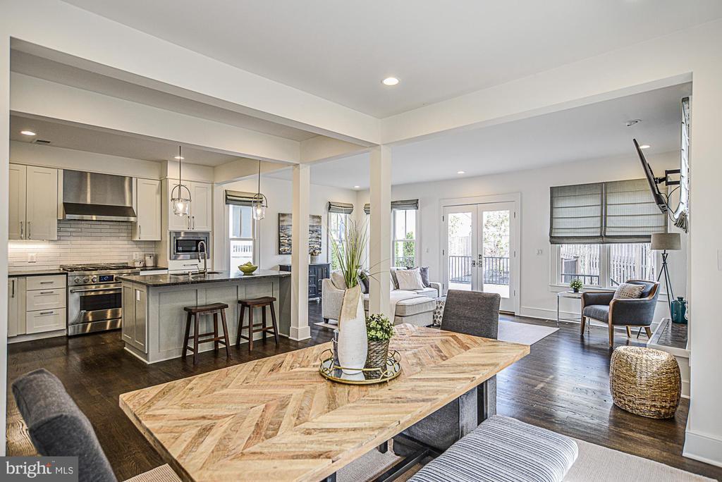 Open concept floorplan - 231 N EDGEWOOD ST, ARLINGTON