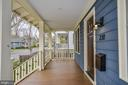 Newly stained covered porch - 231 N EDGEWOOD ST, ARLINGTON