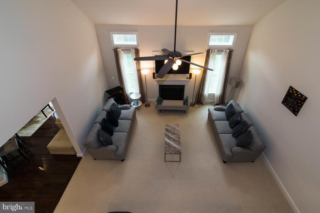 Family Room From Upper Level - 14416 CHELSEA GARDEN CT, LAUREL