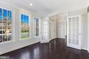 main level office with french doors - 43965 RIVERPOINT DR, LEESBURG