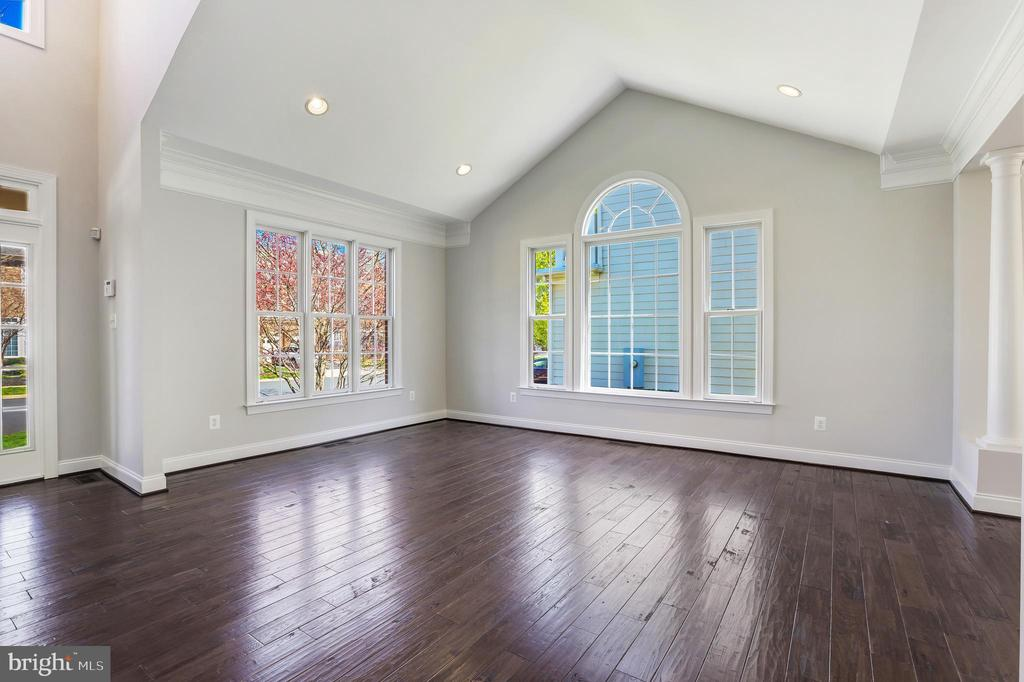 Cathedral ceiling in living room - 43965 RIVERPOINT DR, LEESBURG