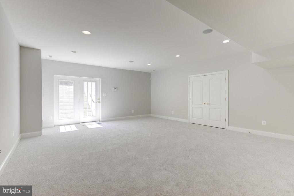On lower level expansive great room - 43965 RIVERPOINT DR, LEESBURG