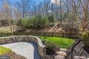 Beautiful patio & fenced yard backing to trees - 43965 RIVERPOINT DR, LEESBURG