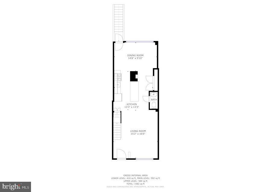 Main Floor - 618 EVARTS ST NE, WASHINGTON