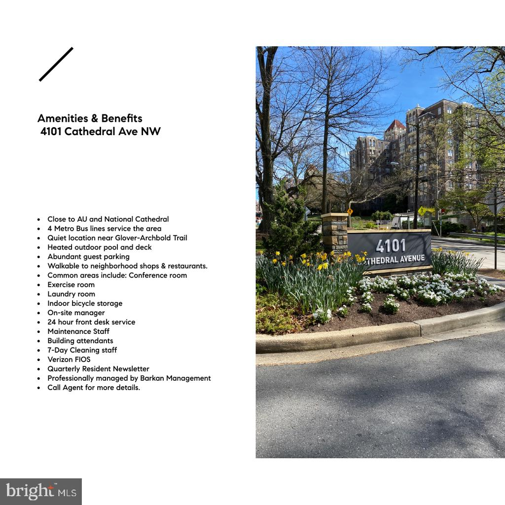 Features & Benefits of life at 4101 Cathedral Ave - 4101 CATHEDRAL AVE NW #501, WASHINGTON