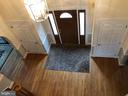 View of foyer from above - 4917 MUSSETTER RD, IJAMSVILLE