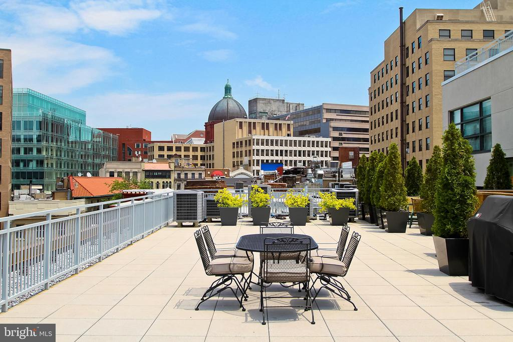 Roofdeck grilling + dining at its best! - 1830 JEFFERSON PL NW #8, WASHINGTON