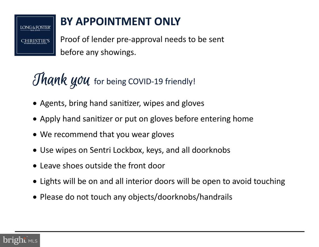 COVID-19 Showing Instructions - 308 S PAYNE ST, ALEXANDRIA