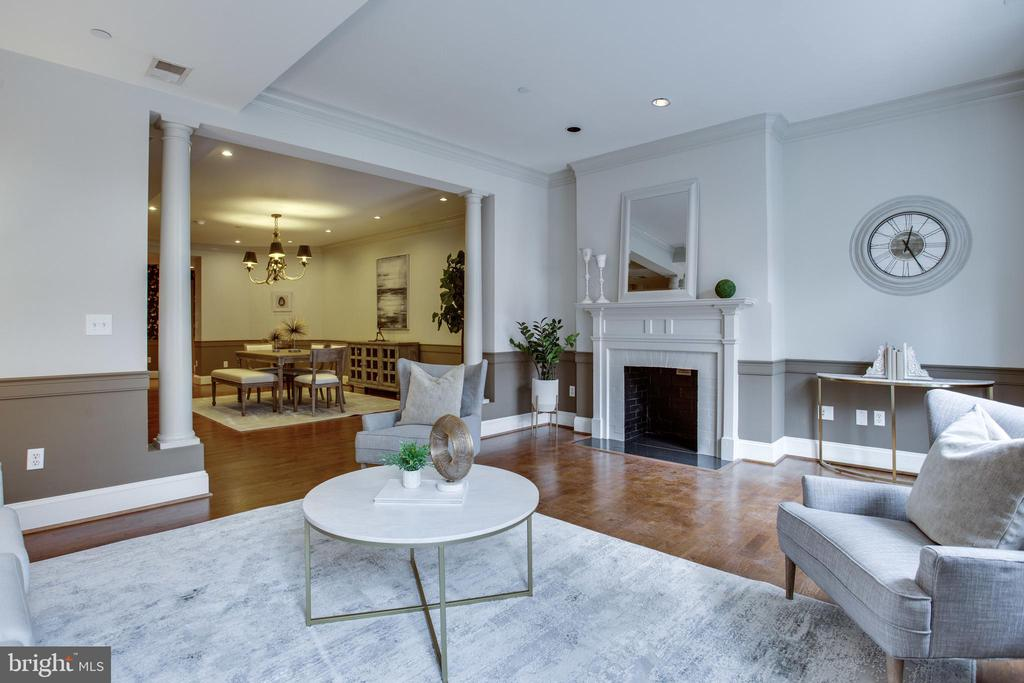 Living room - 1830 JEFFERSON PL NW #8, WASHINGTON