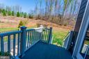 Deck with Steps to Backyard - 2308 SWEET PEPPERBRUSH LOOP, DUMFRIES