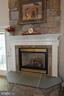 Great room stone/slate gas fireplace - 40319 CHARLES TOWN PIKE, HAMILTON
