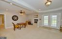 Dining area w/gas fireplace & french doors - 40319 CHARLES TOWN PIKE, HAMILTON