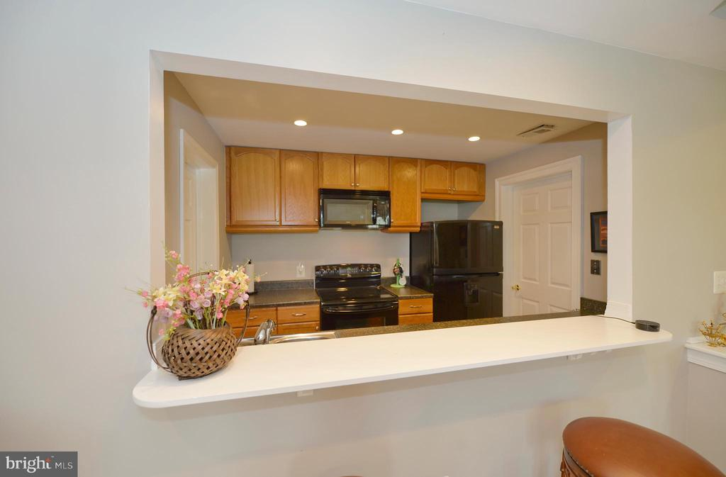 Snack bar to the kitchen from living room - 40319 CHARLES TOWN PIKE, HAMILTON