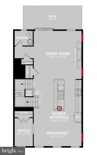 Main Level Floor Plan - 1586 MEADOWLARK GLEN RD, DUMFRIES