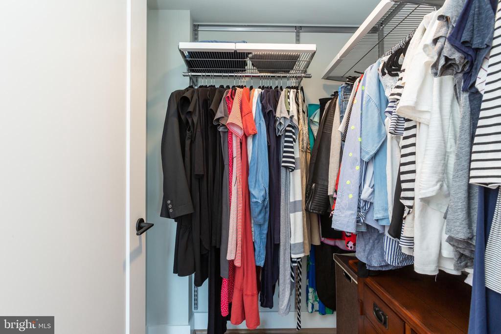 Large Master Closet with custom ELFA closet. - 1300 4TH ST SE #808, WASHINGTON