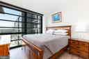 Light-filled Master Bedroom with Mecho Shades. - 1300 4TH ST SE #808, WASHINGTON