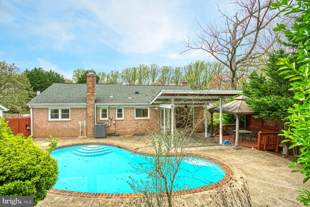Backyard view of Pool and covered areas - 6008 5TH RD N, ARLINGTON