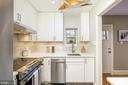 Kitchen with window to back patio - 1813 16TH ST NW #1B, WASHINGTON