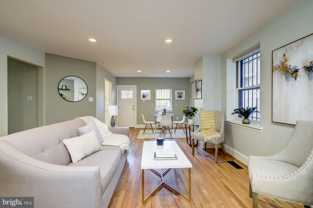 View from Living Room toward Dining area - 1813 16TH ST NW #1B, WASHINGTON