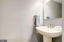 Powder room on main level - 1813 16TH ST NW #1B, WASHINGTON