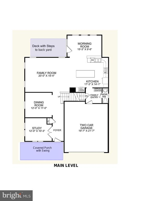 Main Level Floor Plan - 2308 SWEET PEPPERBRUSH LOOP, DUMFRIES