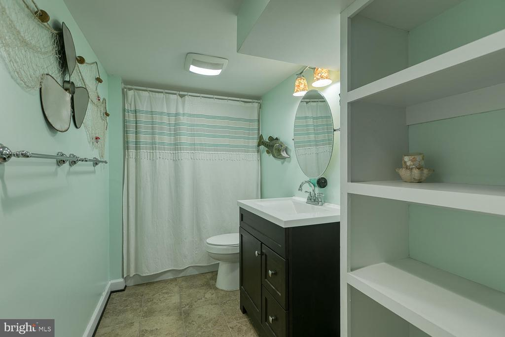 Cute full basement bathroom - 149 SUMMER BREEZE LN, FREDERICKSBURG
