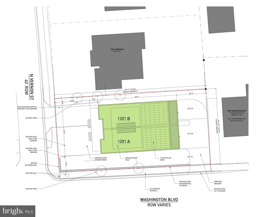 Conceptual Site Plan - 1201 N VERNON ST, ARLINGTON