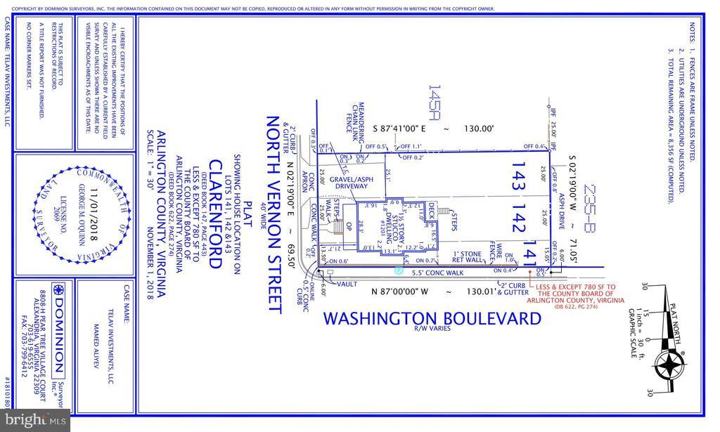 1201 N Vernon St Survey - 1201 N VERNON ST, ARLINGTON