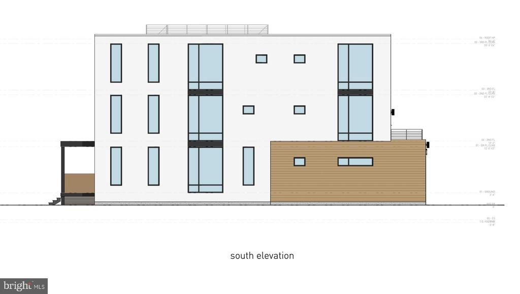 South Elevation - 1201 N VERNON ST, ARLINGTON