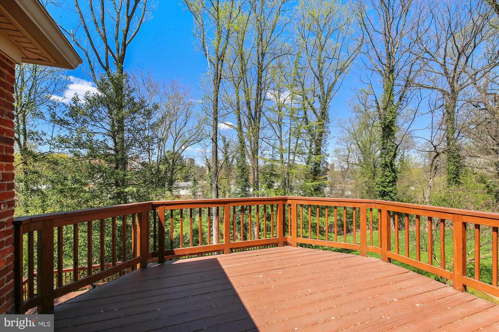 View from upper Deck - 4833 BROAD BROOK DR, BETHESDA