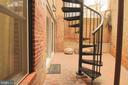Secured secluded patio has ADT motion sense camera - 601 NORTH CAROLINA AVE SE, WASHINGTON