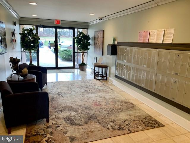 Welcoming Lobby with mailboxes - 3031 BORGE ST #205, OAKTON