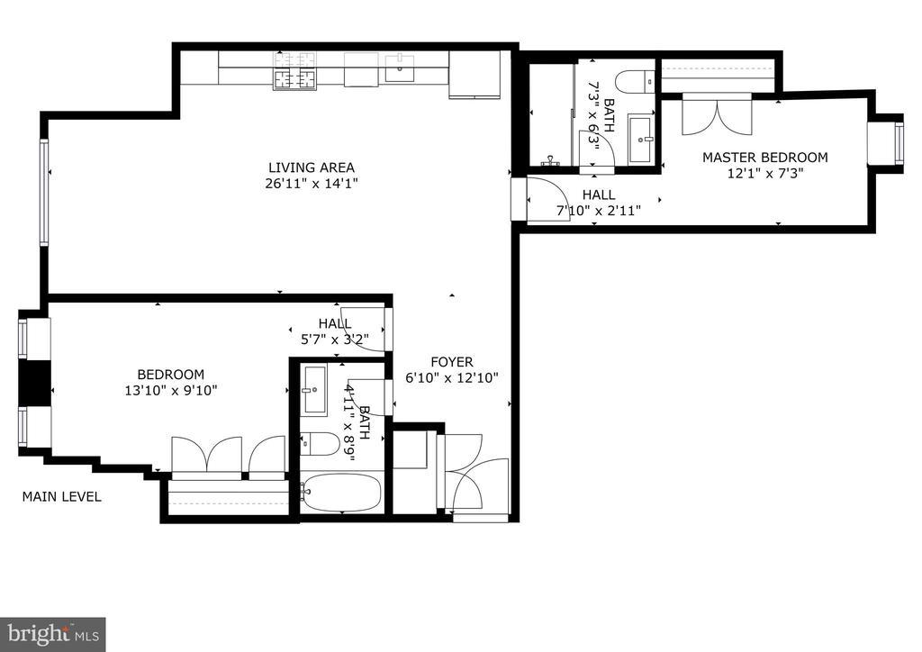 This is #2 floor plan. It is the reverse as #1 - 1821 I STREET NE #2, WASHINGTON