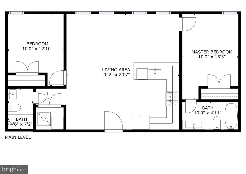 Scaled floor plan - 1821 I STREET NE #13, WASHINGTON