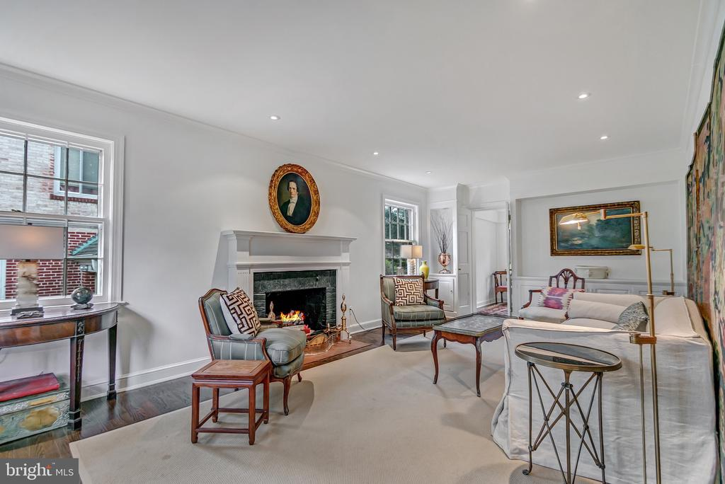 Large living room is to the left of the front hall - 7007 CONNECTICUT AVE, CHEVY CHASE