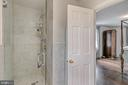 Owner's bathroom has marble shower - 7007 CONNECTICUT AVE, CHEVY CHASE
