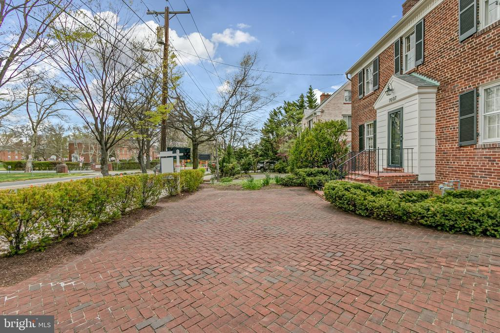 Bricked drive in front of house - 7007 CONNECTICUT AVE, CHEVY CHASE