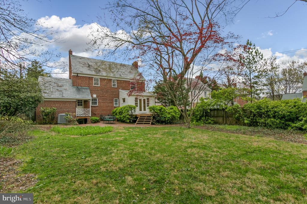 View of house from the back of the property - 7007 CONNECTICUT AVE, CHEVY CHASE