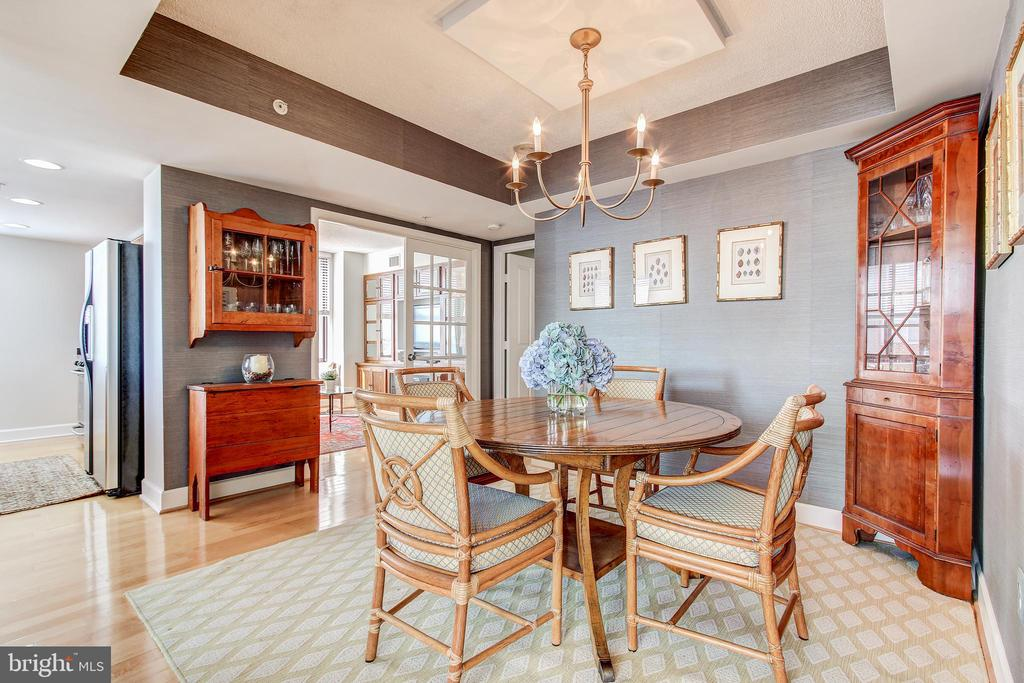 Dining Room with coffered ceiling. - 1205 N GARFIELD ST #804, ARLINGTON