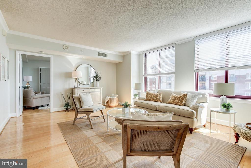 Living Room - 1205 N GARFIELD ST #804, ARLINGTON